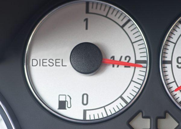 141471816 - fuel gauge from a diesel car